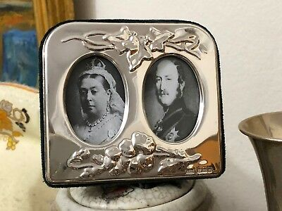 Sterling Silver Double Photo Frame - PJP - Birmingham - 1986