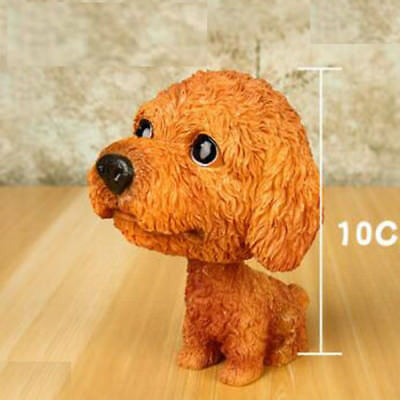 Cute Resin BobbleHead Teddy Dog Doll Toy Animal Collection Car Home Decor US