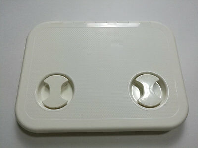 """Boat RV Motohome Hinged Access Inspection Deck Hatch White L14.8""""×W10.9"""" 5002"""