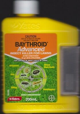 Yates BAYTHROID Lawn Grub Killer & Garden Insecticide 500ML - NEW  FREE SHIP Aus