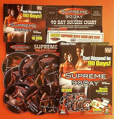 Supreme 90Day INSANE Workout 10DVD Weighloss Fitness Tone ABS/Belly/Butt/Muscles