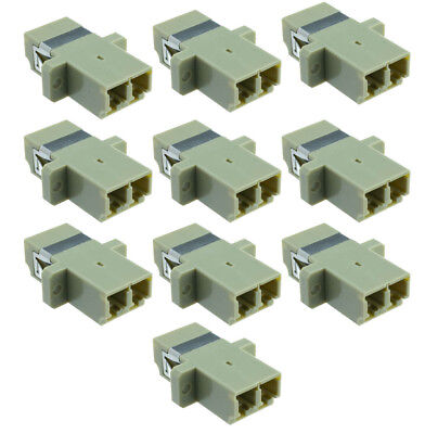 NEW Set of 10 LC-LC Duplex Optical Fiber Optic Cable Coupler Adapters Tripp Lite