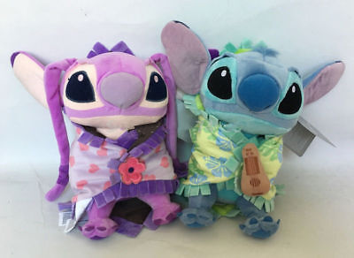 """2pcs Disney Babies Stitch and Angel Plush with Blanket Plush Doll toy Gift 8"""""""