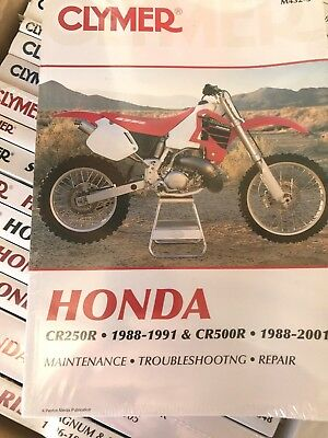clymer m432 3 service shop repair manual honda cr250 88 91 cr500r rh picclick com 88 CR250 94 CR250