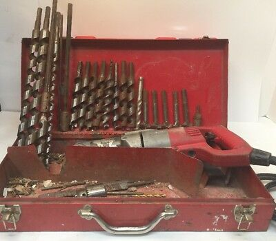 """Milwaukee 1/2"""" Corded Heavy Duty Right Angle Drill 1107-1 With 20+ Bits!- REPAIR"""
