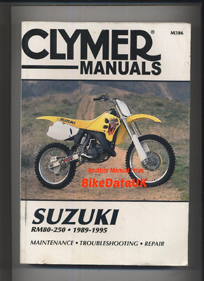 clymer suzuki rm80 rm125 rm250 rmx250 motorcycle workshop manual rh picclick co uk 2008 suzuki rmz 250 service manual download 2001 suzuki rm 250 service manual pdf