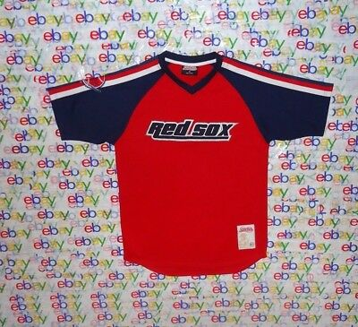 Youth s Mlb Boston Red Sox Stitches Sewn Blue   Red Baseball Jersey Xlarge  Xl 240191a8dfd