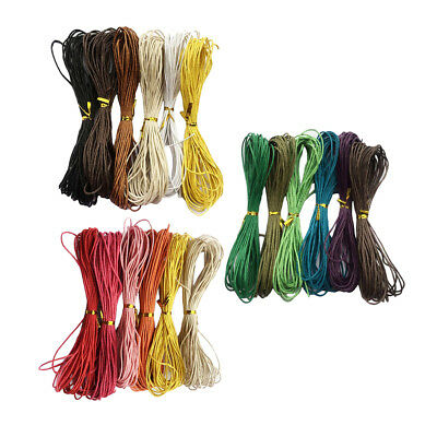 6pcs 10m Waxed Cotton Cord String for DIY Necklace Bracelet Jewelry 1.5mm