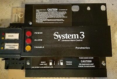 PYROTRONICS CP-30 FIRE ALARM CONTROL w/BC-30 & PS-30  USED