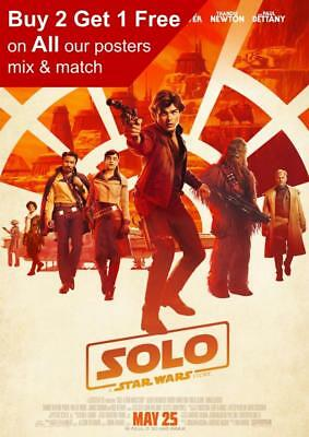 Solo A Star Wars Story Movie Poster A5 A4 A3 A2 A1