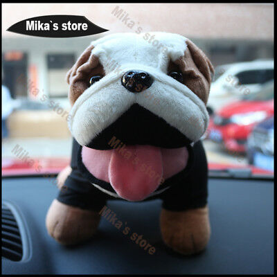 Bulldog Fashion decoration lovely Bulldog Style Plush cotton Toy Mini Cooper