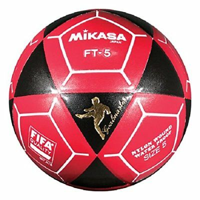 951fd6589 MIKASA FT5 GOAL Master Soccer Ball Foot Volley ball Black/Red Size 5 ...
