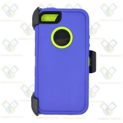 save off bc345 83fb8 PURPLE GREEN IPHONE 5S / SE Defender Case w/ Belt Holster Clip fits Otterbox