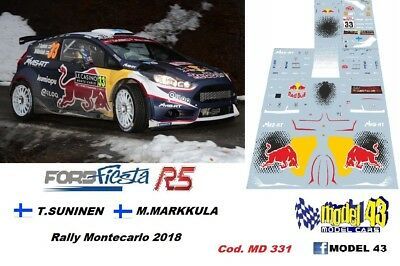 Rally  MONTECARLO  2017 DECAL  1//43 FORD  FIESTA R5 BASSO BRC