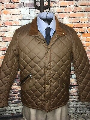 Barbour Quilted Jacket Coat Chelsea Sports Sandstone Brown Mens 2XL