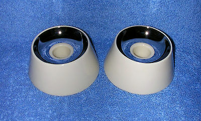 Lenox, 3485-X-507 - 1 Pair Of Ivory & Platinum Candle Holders (Lightly Used)