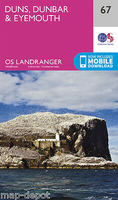 DUNS, DUNBAR & EYEMOUTH LANDRANGER MAP 67 - Ordnance Survey - OS - NEW 2016