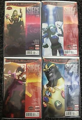 Secret Wars: Siege Battleworld # 1-4 (2015) Marvel Comics!