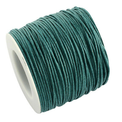 Waxed Cotton Cord Thread 1mm Teal for bead stringing bracelet necklace making