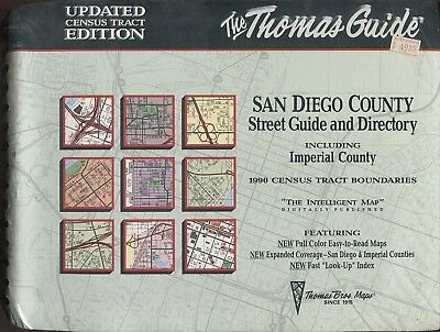 Thomas Guide San Diego County Imperial County + 1990 Census Tract Edition + new