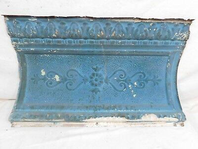 "24"" Large Victorian Antique Tin Ceiling Cornice - C. 1890 Architectural Salvage"