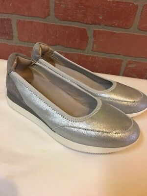 228d4a3922d Naturalizer Junction Silver Textile Leather Casual Slip On Walking Shoes 7M