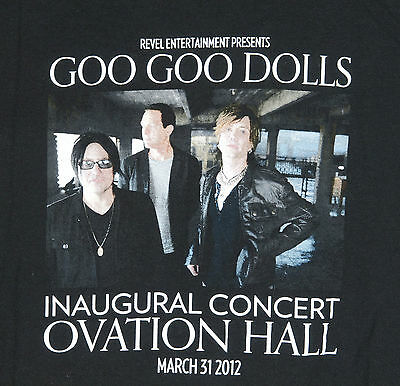 Goo Goo Dolls Revel Casino Inaugural March 2012 Concert T Shirt L Atlantic City