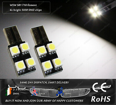 W5W T10 Wedge White LED SMD Side Lights Parking Bulbs Sidelights License Plate