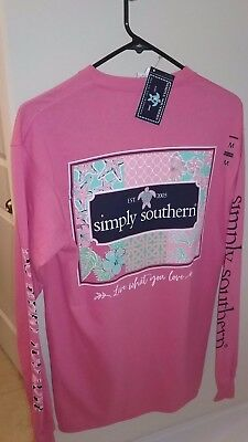 NWT Simply Southern Long Sleeve T Shirt Women's Medium M Patchwork Live Love