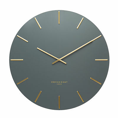NEW Luca Metal Wall Clock - Charcoal by PS Home and Living