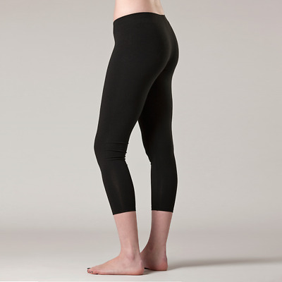 NEW Bamboo & organic cotton 3/4 cropped leggings Women's by O2wear