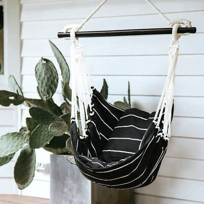 NEW Noosa Hammock Swing In Black & White by Collective Sol