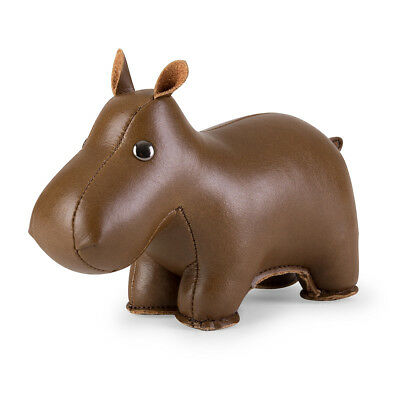 NEW Zuny paperweight classic hippo brown by Until