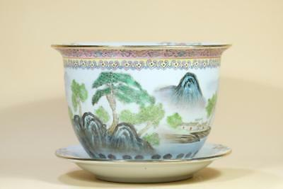 A Chinese Famille Rose Porcelain Planter Pot,Marked.