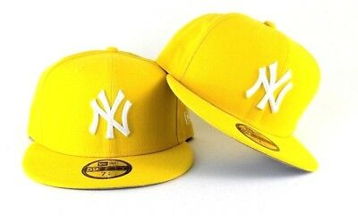 New Era Bright Yellow New York Yankees 59Fifty Gray Bottom Fitted hat Cap ad800f6a75fb