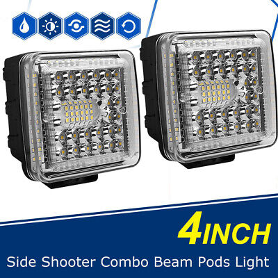 """4""""INCH 168W LED Work Light Bar Flood Combo Pods Driving Off-Road Tractor UTE 12V"""