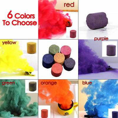 10Pcs Colorful Smoke Cake Smoke Effect Photography Show Round Bomb Aid Divine
