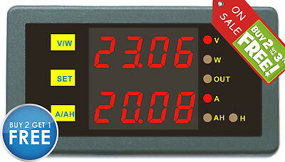 Programmable Combo Meter 0-90V 0-200A Volt AMP Power AH Battery Capacity Tester