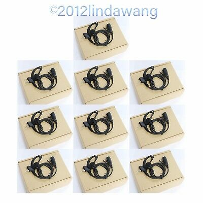 Lot 10 Earhook Earpiece Earphone Headset for Vertex Standard VX-210 VX-228 Radio
