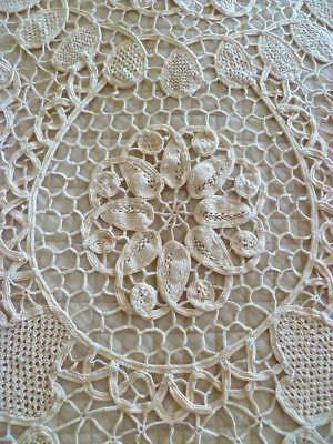 Beautiful~Vintage~French Country~European~Lace~Tatting~Bed~Throw~Bedspread