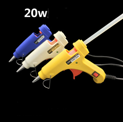 20W 100-240V Mini Electric Heating Hot Melt Glue Gun 7mm Plug Blue ASS