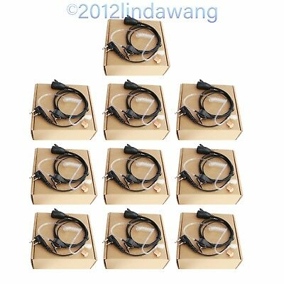 Lot 10 Earpiece Earphone Headset for ICOM IC-F33 F43 F34 F44 F3002 F3003 Radio