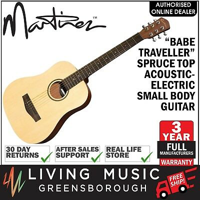 NEW Martinez Babe Traveller Spruce Top Mini Acoustic-Electric Travel Guitar