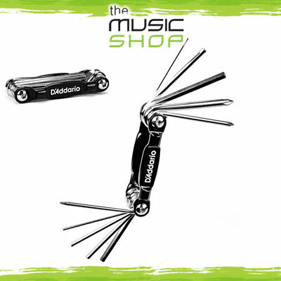 D'Addario Planet Waves Guitar/Bass Multi Tool (Hex Key, Screwdrivers) PW-GBMT-01