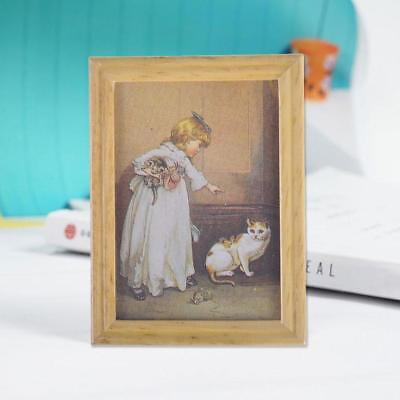 New 1:12 Dollhouse Miniature Framed Wall Painting Home Decor Room Items