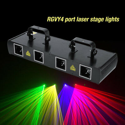 RGYV 4 Lens 300mW DMX DJ Laser Stage Light Club Party Lighting projector Show