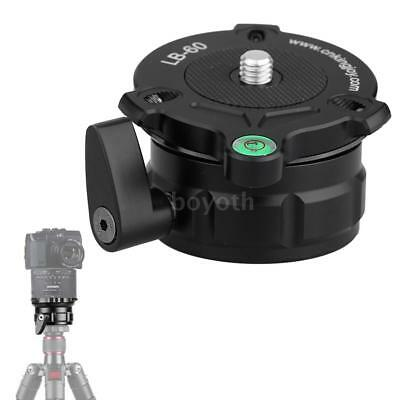 69mm Tripod Head Monopod Leveling Base with Offset Bubble Level for DSLR Camera