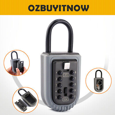 Key Safe Storage Box Padlock Security Combination Lock Home Outdoor Office New