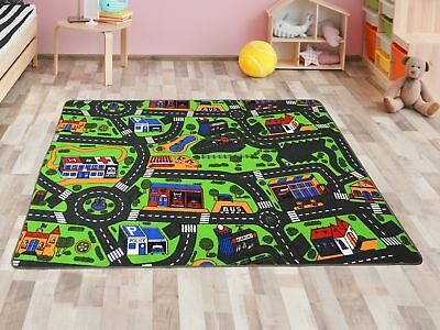 teppich 1 40 x 2 m spielteppich kinderzimmer verkehr auto. Black Bedroom Furniture Sets. Home Design Ideas