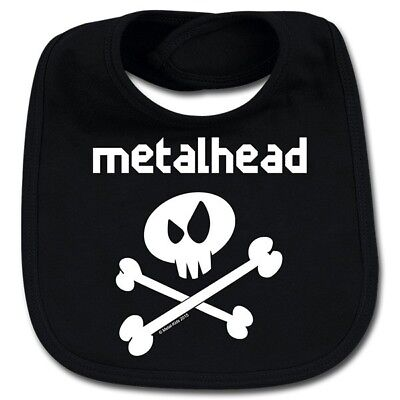 Metalhead Cotton Baby Bib Boys Girls Infant Heavy Metal Kids Black Bibs